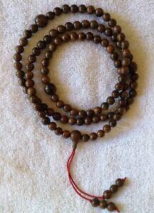 108 Beads Meditation Prayer Crocodile Borneo Agarwood 8 MM Necklace or Bracelet