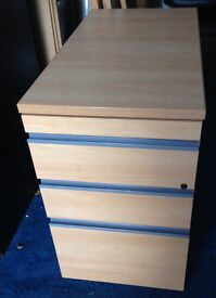 office pedestal filing cabinet with drawers with key