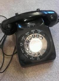 Old original rotary dial telephone