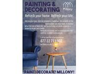 Wallpapering and painting