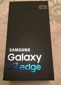 Brand new, unlocked and sealed Samsung Galaxy S7 edge 32gb- Gold Platinum