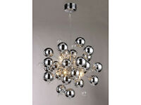 Decagonal Lamp Chrome Hanging Golf Ball Chandelier