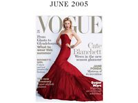 Vogue Magazine June 2005, pre loved condition is good Priced low, Big collection available