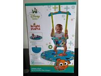 New Boxed Disney Baby Door Jumper Bouncer with toys playmat and flashcards