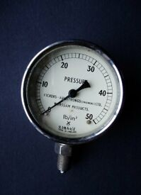 Vintage Vickers - Armstrong (Quality) Pressure gauge
