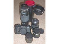 Yashica FX-3 Super 2000 35mm SLR Film Camera + Lens and filters