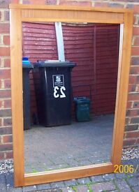 Solid Wood Mirror - Classic Design Excellent Condition £25
