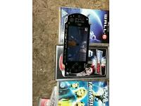 Play station portable with games / films / charger and case
