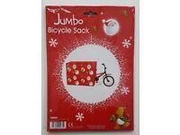 Jumbo Christmas Xmas Bicycle Bike Sack Gift Wrap Bag