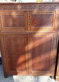 Late 20s solid oak court cupboard