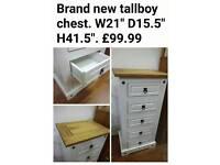 Brand new tallboy chest