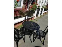 Aluminium cast iron Garden Table and chairs