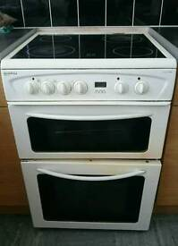 Beko DVC61 Electric Double Oven Cooker with Ceramic Hobs - 60cm