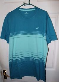 Hollister T-Shirt (Blue, Large)
