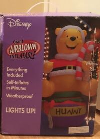 Christmas Winnie the Pooh 8ft external inflatable