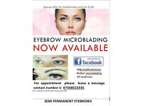 MIcroblading hair stroke natural looking semi permenant Eyebrows only £90 (plus touch up £40)