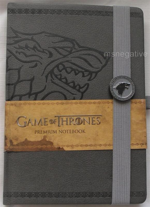 Game of Thrones Stark Textured Hardcover A5 Writing Journal Notebook Licensed
