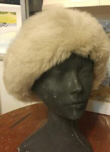 Women's Super-warm Sheepskin Shearling Hat 100% Pure Amazing Quality Winter Cap Purple Gray Cream