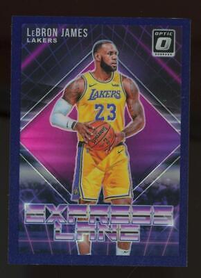 2018 Panini Donruss Optic Express Lane Purple Prizm #4 LeBron James