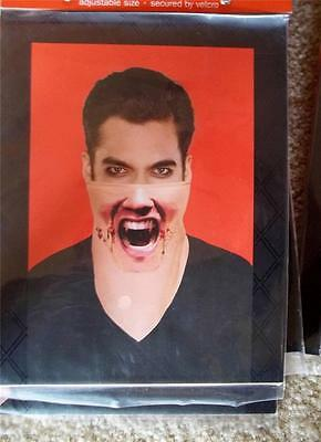 New Bandana face Mask Bloody Vampire teeth Halloween Realistic Easy - Easy Vampire Costumes