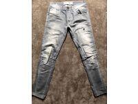 Burtons men's grey jeans 32