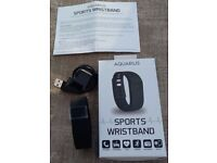 Brand New - Aquarius Fitness Tracker Sports Wristband - Black - FITBIT alternative