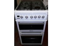hotpoint 50cm wide gas cooker in white colour