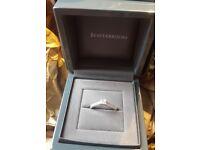 BEAUTIFUL BEAVERBROOKS PLATINUM .37CT PRINCESS CUT DIAMOND ENGAGEMENT RING COST £1600 NEW IN FEB 17