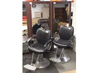 2 x Hairdresser Chairs and 4 x Hairdresser Mirrors