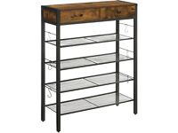 Shoe Rack, Shoe Organiser With 2 Drawers and 4 Shelves