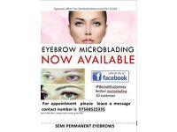 Microblading hair stroke eyebrows