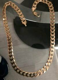 Heavy 9ct Gold Curb Chain