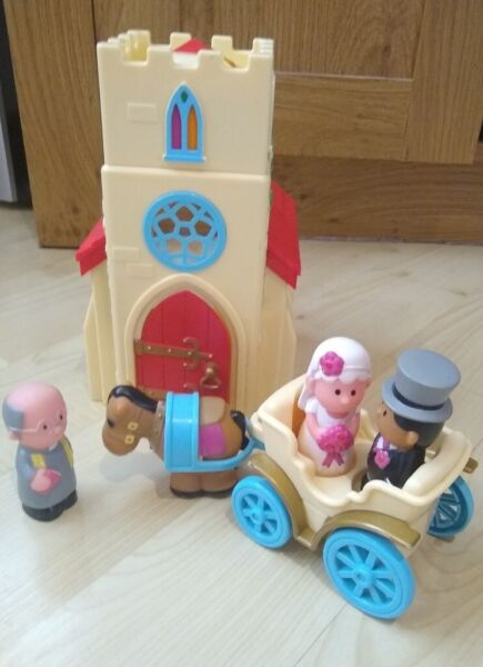 ELC Happyland Musical Village Church Playset with wedding bells sound & 'Here Comes The Bride' tune for sale  Clifton, Nottinghamshire