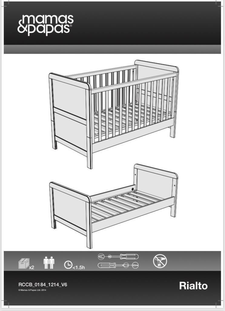 Mamas Papas Cotbed Matching Furniture Shelf And Nursery