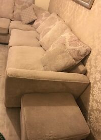 Right hand L shaped sofa.