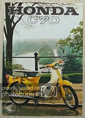 HONDA C70 Motorcycle UK Sales Specification Leaflet 1972 #6/72/70M