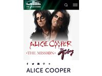 2 x ALICE COOPER Tickets Glasgow Hydro 12th November