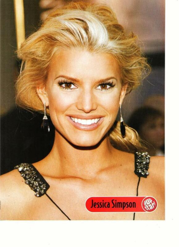 Jessica Simpson Raven teen magazine pinup clipping That