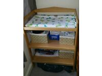 Baby changing table (wooden)