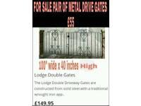 Set of metal driveway gates
