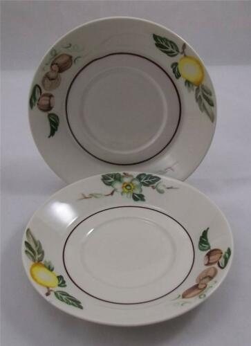 Villeroy+%26+and+Boch+BALI+2x+Saucers+14.3cm+NEW