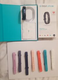 Fitbit Alta Hr (large) with 7 new straps & original box & charger.