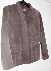 Ladies brown suede Amaranto jacket size 14