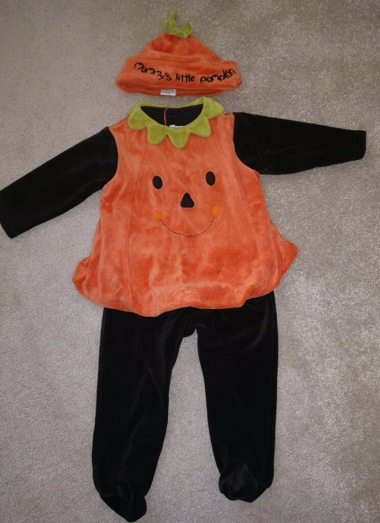 Mamas and papa's pumpkin outfit 9-12 months