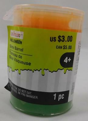 Creatology Halloween Slime Barrel Orange Green New 3.5 Oz - Creatology Halloween