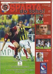 Orig-PRG-Champions-League-04-05-SPARTA-PRAG-FENERBAHCE-ISTANBUL-RARE