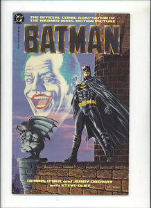 Batman-movie-adaptation-Vfn-Nm-1989-1-Graphic-Novel-first-print-Joker-DC-Comics