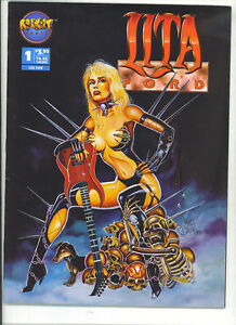 Lita-Ford-the-queen-of-heavy-metal-1-1993-Rare-comics-Mag-Runaways-rock-n-roll