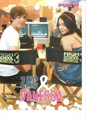 Zac Efron, Vanessa Hudgens, Full Page Pinup, High School Musical, Foreign Mag.