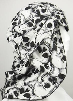 skull cap hat do doo rag skull skeleton sun block legionnaire sweat band USA (Skeleton Hat)